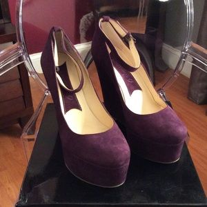 Boutique 9 Dark Purple Wedges