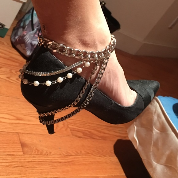 Jewelry - Silver heel chain ankle jewelry NEW!