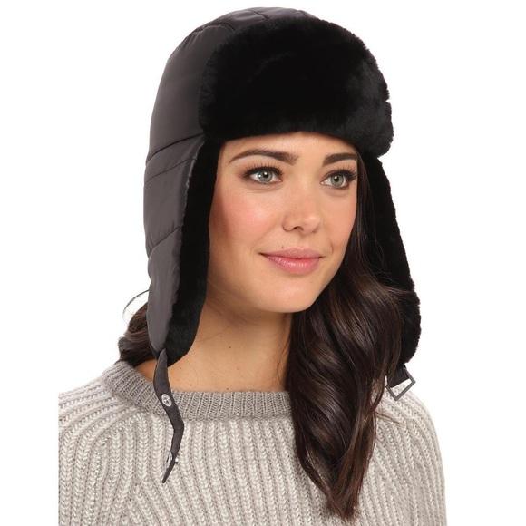 68168125230c2 UGG Lorien Trapper Hat w  Shearling Trim. M 56c3df867f0a05d7150932e5