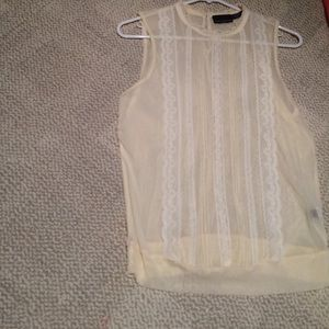 Off white lace tank