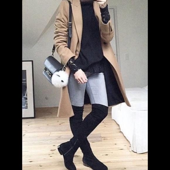 2ca3b1b38fb Zara Black Soft Flat Over the Knee Boots