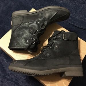 0ecb776026e UGG Cecile black waterproof lace up boots NWT