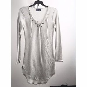 Dresses & Skirts - NWOT lace up sweatshirt dress