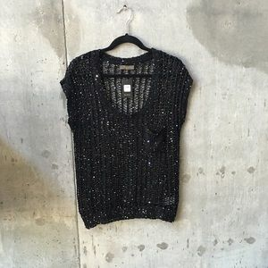 Zara Sweaters - BNWT black sweater silver sequins
