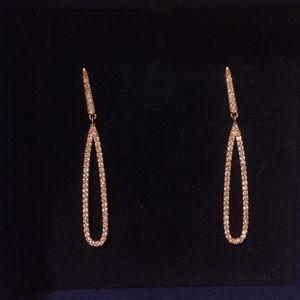 Swarovski rose gold earings
