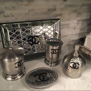 43 off chanel accessories chanel bathroom set from cynthia 39 s closet on poshmark - Sullivans wholesale home decor set ...