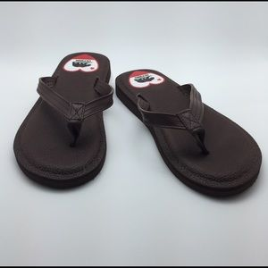 New Yoga Mat Brown flip flops extremely soft sole