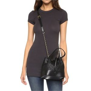 48365a764cf Tory Burch Bags - Tory Burch Marion Quilted Mini Bucket Bag