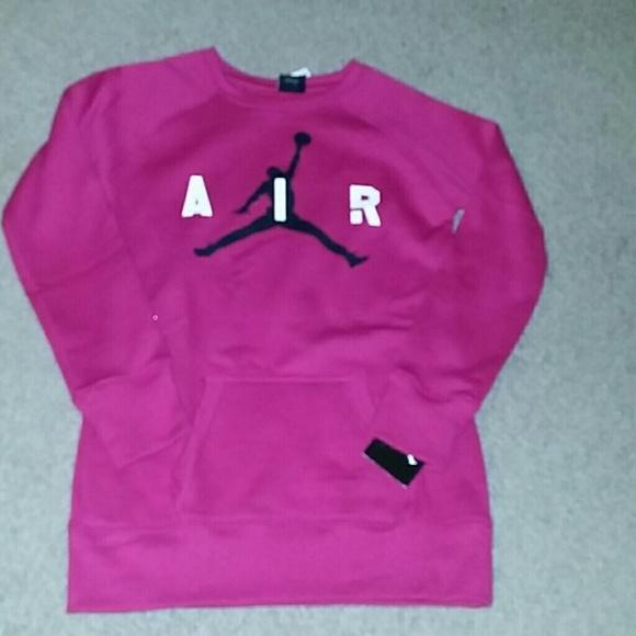 Jordan Shirts Tops Girls Sz Medium Nike Sweatshirt Nwt Poshmark