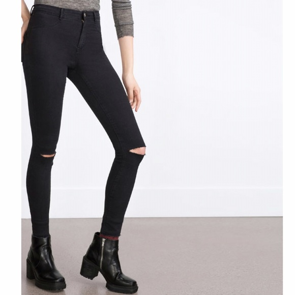 eecce162 Zara high waisted skinny jeans