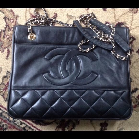 3390bcae9f5a8b CHANEL Handbags - Vintage Chanel Leather Bag with serial code