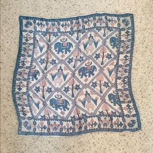 Accessories - Silky Elephant Pattern Scarf