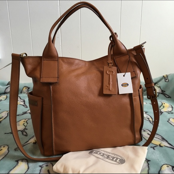 35% off Fossil Handbags - Fossil Emerson Satchel Camel NWT leather ...