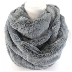 B67 Gray Super Soft Cozy Blanket Infinity Scarf