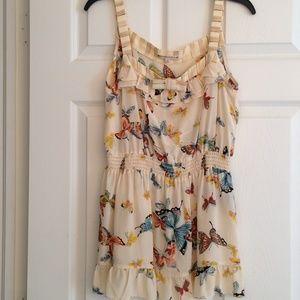 e9e4846bb01c9f Nanette Lepore Tops - NANETTE LEPORE Silk butterfly print top