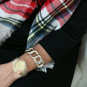 Charming Charlie Jewelry - Chain Link Gold Bracelet & Watch Set