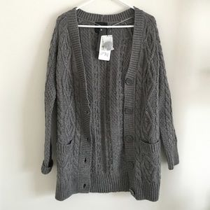 Zara grey knit cardigan size S