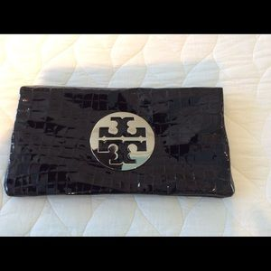 Authentic Tory Burch patent leather clutch