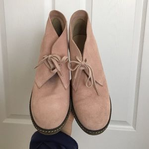 J.Crew pink Macalister Wedge booties 8