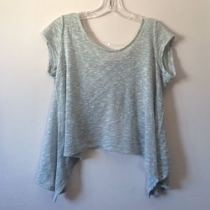 Tops - Silver Sparkle Open Back Crop Top (Size Medium)