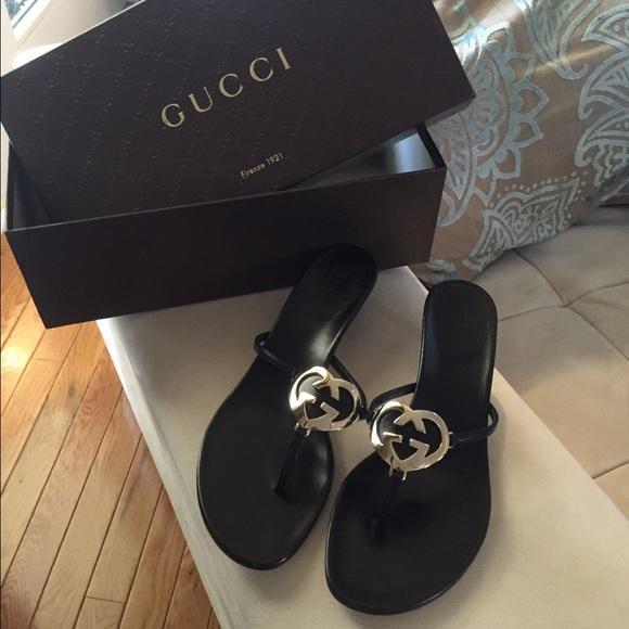 0a3e1317c Gucci black sandals New with box- size 71 2