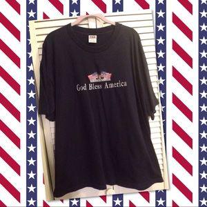 Tops - Patriotic GOD BLESS AMERICA T-Shirt 2X-Large NAVY