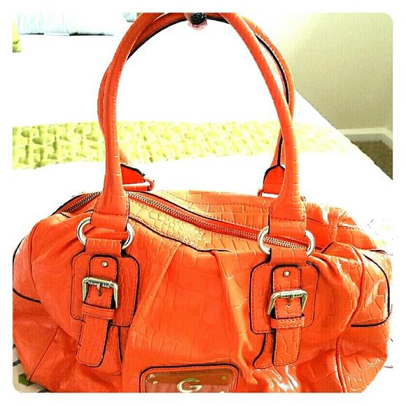 ad973200e0 Guess Handbags - Orange Guess Purse