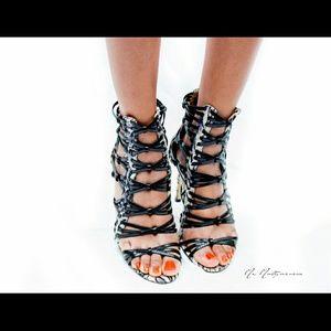 2 for $30 New black & white heels