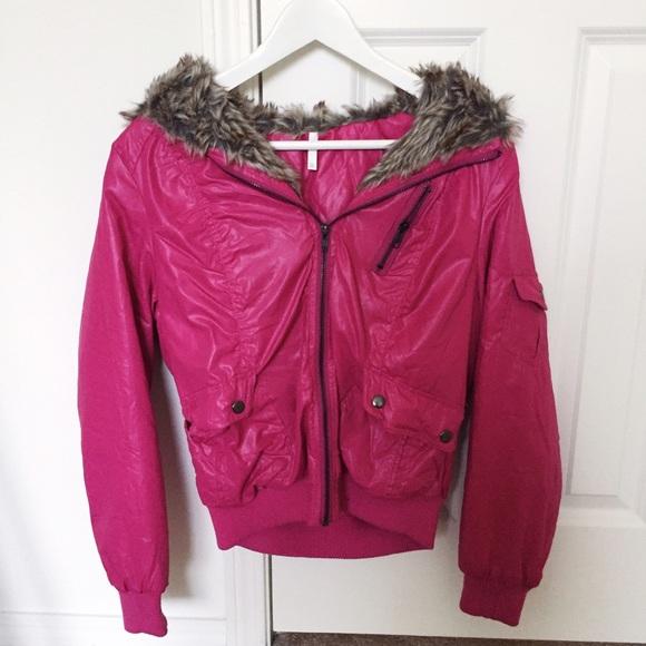 57% off Jackets & Blazers - Hot pink winter jacket from Steffi's ...