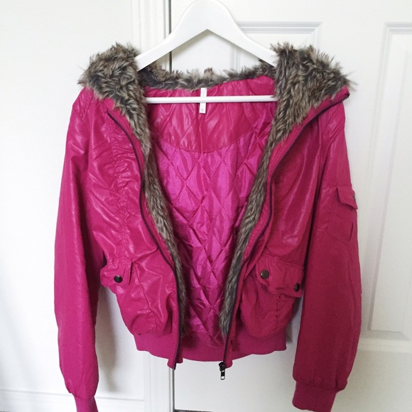 57% off Jackets &amp Blazers - Hot pink winter jacket from Steffi&39s