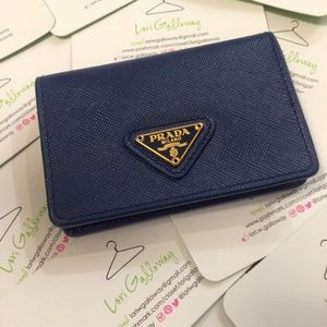 Prada Accessories - Blue Prada Card Case