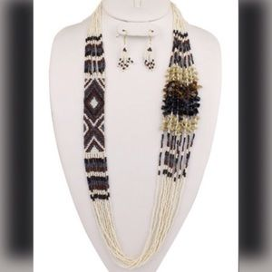 Boutique Jewelry - Multi Strand Festival Style Necklace/Earring Set