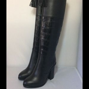 Lanvin Black Tall Leather Boots