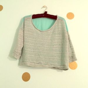 Tops - ✂️Mint Knit Crop 💐