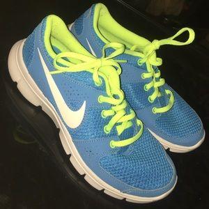 Neon Blue Nike Running Shoes
