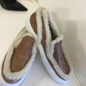 Mm6 maison margiela shearling sneaker