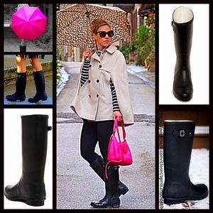 BP Nordstrom Brand  Shoes - ❗️1-HOUR SALE❗️RAIN BOOTS Black Buckle Tall Boots