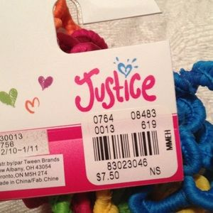 Justice Accessories - Justice Hair Ties - 5 colors - New with tags 0ababf2bfd1