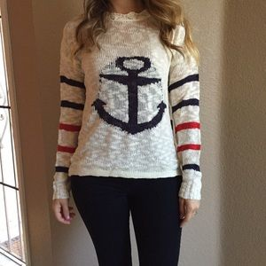 Sweaters - Woven Anchor Sweater (LAST SMALL!)