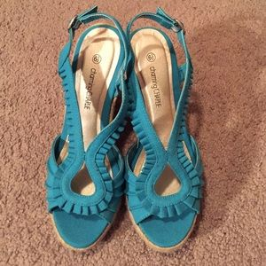 Sabo Skirt Shoes - ❄️SALE❄️NWT Teal Wedges