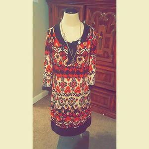 Dresses & Skirts - Vibrant in the mood dress!!