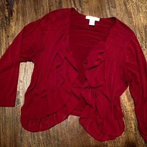 august silk Sweaters - Light and flowy ruffled jacket