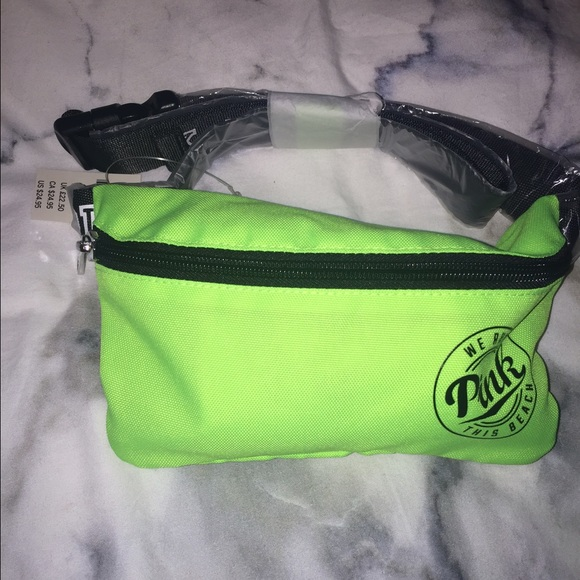 247633aecd7 PINK Victoria s Secret Bags   Lime Green Nwt Vs Pink Fanny Pack ...