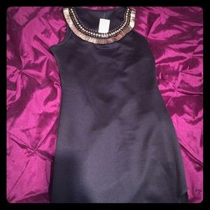 Dresses & Skirts - Long black dress with gold embellishment