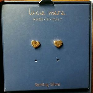 Lucia Mara Jewelry Sterling Silver Rose Gold Stud