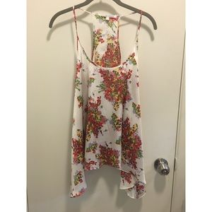 Collective Concepts Tops - Floral spaghetti strap tank top
