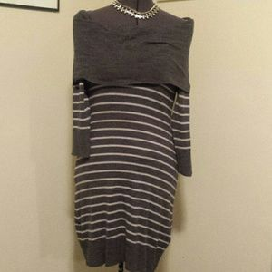 CONNECTED APPAREL  Dresses & Skirts - GRAY SWEATER DRESS WORN ONCE