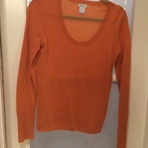 Orange cashmere sweater