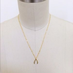 Wish bone necklace