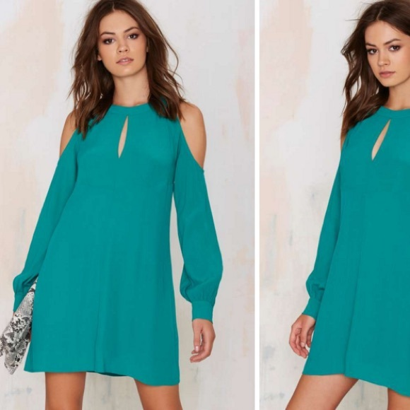Turquoise Off the Shoulder Dresses